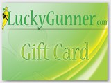 Luckygunner.com gift card (front)